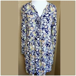 Skies Are Blue floral tunic dress sz. M